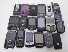 Lot of 18 Cell Phones For Parts Smartphones Flip Phones Blackberry Samsung PL8