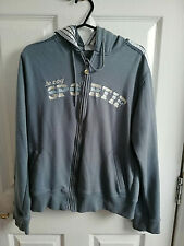LE COQ SPORTIF WOMENS GREY FULL ZIP HOODED ACTIVEWEAR TOP SIZE 14 LONG SLEEVE