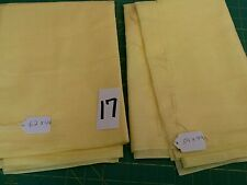 "estate sale 2 yellow fabric-62"" X 44"" and 54"" X 44""  lot# 17"