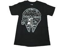 Star Wars Logo Millenium Falcon Outline Authentic Licensed Men's T Shirt