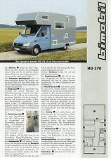 Prospekt Bimobil HD 370 Reisemobil 2002 Broschüre Wohnmobil Mercedes Sprinter