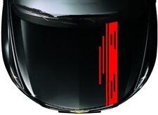 Car Racing Stripes Sport Hood decals Vinyl Graphics Bonnet stickers #CG358