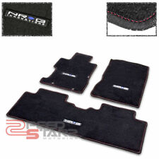 FOR FG CIVIC SEDAN BLACK CAR FLOOR MATS CARPET/RUG FRONT+REAR LINER +RUBBER GRIP