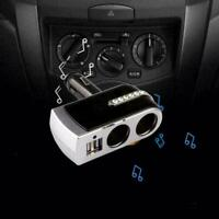 Dual USB 2 Way Car Cigarette Lighter Socket Splitter Charger Adapter New DC U0F9