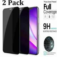 For iPhone 12 11 Pro Max XR Privacy Full Cover Tempered Glass Screen Protector