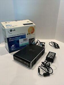 LG External GE20 Super Multi DVD Rewriter 20x LightScribe Model GE20LU10