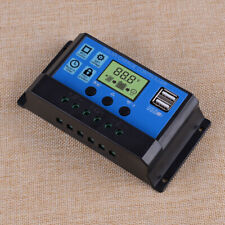 30A Dual USB LCD Solar Panel Battery Regulator PWM Charge Controller Auto