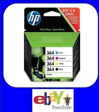 Genuine 4 Colour HP 364 Ink Cartridge Multipack, FREE POSTAGE, 2019