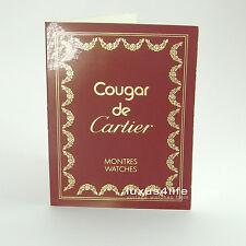 Cartier instrucciones Cougar de cartier, marcas de almacenamiento