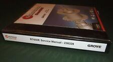 GROVE RT650E CRANE SERVICE SHOP REPAIR MANUAL BOOK