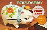 CICERO ILLINOIS~GET YOUR PIGGY BANK-CLYDE SAVINGS & LOAN-ADVERTISING POSTCARD