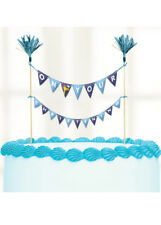 Amscan 9901961 23 X 24 Cm on Your Christening Day Blue Cake Picks