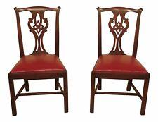 47642EC: Pair HENKEL HARRIS Chippendale Mahogany Model 101 Side Chairs