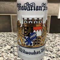 Bavarian Inn Milwaukee ,Wisconsin Beer Stein. Ceramarte Brazil Mug
