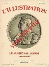 L'illustration n°4584 du 10/01/1931 Spécial Maréchal Joffre + Empire State Build