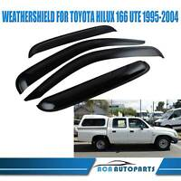 Weather Shields Weathershields Window Visors For Toyota Hilux 166 1995-2004