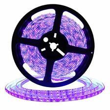 Waterproof LED UV Black Light Strip w/ Power Supply for Aquariums & More (32.8')