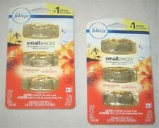 6  FEBREZE SMALL SPACES Air Freshener REFILLS HAWAIIAN ALOHA 2 PKS W 3 COUNT EA