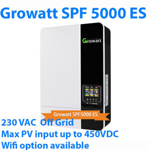 Growatt SPF 5000 ES Off grid solar inverter support 48V battery MPPT