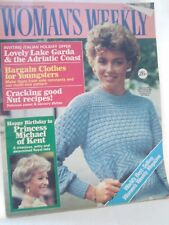 Womans Weekly 12th January 1985 Fashion, Food, Patterns etc