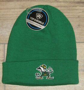 Notre Dame Fighting Irish Leprechaun Cuffed Winter Knit Beanie Hat Cap Men's