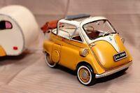 ISETTA + TRAILER tin toy tinplate car blechmodell auto voiture tole handmade
