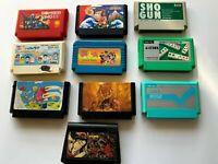 LOT10 Nintendo Famicom Cartridge Set NES JAPAN  10games set FC0013