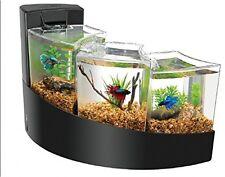 Desktop Aquarium Fish Tank Kit Waterfall Water Separate Ecosystem home Decor BK