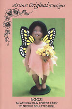 Ngozi African Rain Forest Fairy Needle Sculpted Doll Arlene's Original Designs