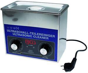 BGS technic 8990 Profi Ultraschall-Teilereiniger, 3 Liter, 100 Watt mit Heizung