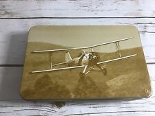 TAM First Class Hinged Tin Box Airline 1943 Plane Fw44 Reproductions