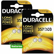 4 x Duracell 357 / 303 1.5V Silver Oxide Watch Battery D357H D357/303 V303 SR44