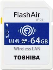 Toshiba 64GB Wi-Fi Wireless LAN FlashAir W-04 SDXC SD 90MB/s Camera Memory Card