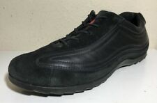 ECCO Women Shoes Sneakers Size 40 Black Leather Suede Oxford Walking Lace Up