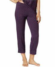 Alfani Women's Printed Cropped Pajama Pants Plum Orbit Dot XXX-LARGE NWOT