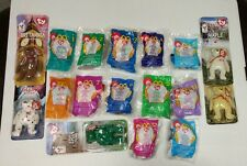 Ty Mc Donalds Teenie Beanie Babies Britannia, Glory, Erin & Maple The Bears LOT