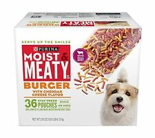 Purina Moist & Meaty Burger with Cheddar Cheese Wet Dog Food Free Shipping