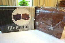 McKlein Brown 100% Leather Double Compartment Briefcase Laptop Case Bag 80364