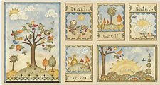 """Shine Owl Cat Tree Cotton Fabric Red Rooster Fabrics #26430 - 24""""X44"""" PANEL"""