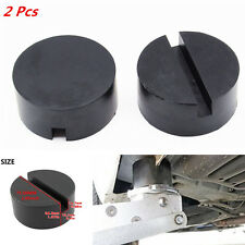 2x Car Suv Universal Slotted Frame Rail Floor Jack Guard Adapter Lift Rubber Pad