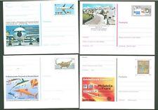 Stationery An23 Postcard (4 pcs) Germany 1998+ Aviation Europa Cept Below face