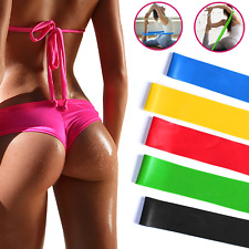 Resistance Bands Exercise Fitness Home Workout Train Elastic Stretch Loop Set