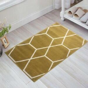Moroccan Collection Yellow 2 ft. x 3 ft. Geometric Polypropylene Area Rug