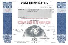 Vista Corporation. Stock Certificate. 1989