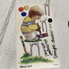 """Suzy's Zoo Sticker Mod #9731 Vintage Sticker 2/"""" x 3.5/"""""""