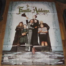 THE ADAMS FAMiLY Anjelica Huston Raul Julia Ricci 90s Gothic LARGE French POSTER