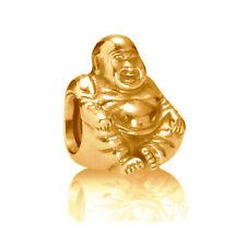PANDORA Meditation Charm 790478 Smiling Buddha Charm 14K Gold Vermeil Plated