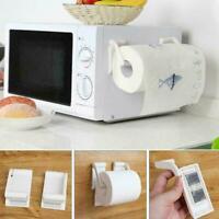 1* Magnetic Paper Towel Roll Holder Napkin Rack Dispenser Kitchen Bathroom E5X1