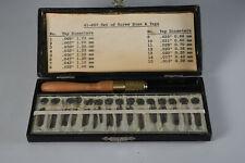 and Taps 41-607 Watchmaker Tool New listing Vintage Set of Screw Dies