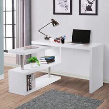 HOMCOM Mesa de PC Mesa de Ordenador Escritorio Madera Blanco